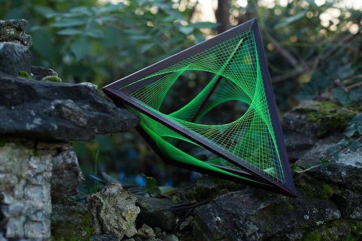 XL Tetrahedron with string art - Flower of Life - Trancentral Shop