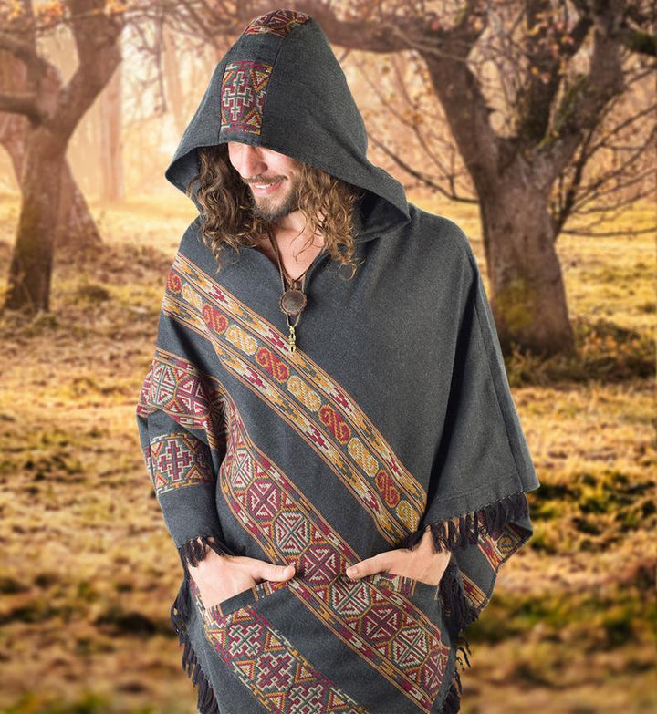 Yak Wool Tribal Poncho - Trancentral Shop