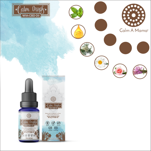 Image of Calm Drops With Hemp Oil - Pain & Stress Relief (15ml)