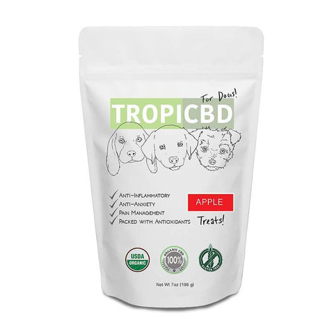 TropiCBD - CBD Pet Edible - Apple Dog Treats - 4mg