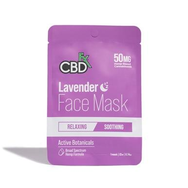 CBDfx - CBD Face Mask - Lavender - 50mg