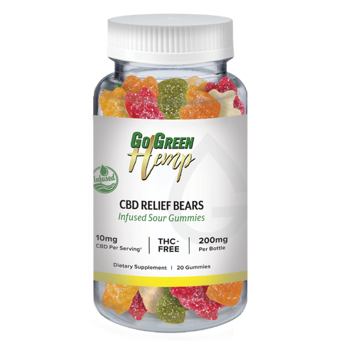 Image of GoGreen Hemp CBD Infused Relief Sour Bears 10mg