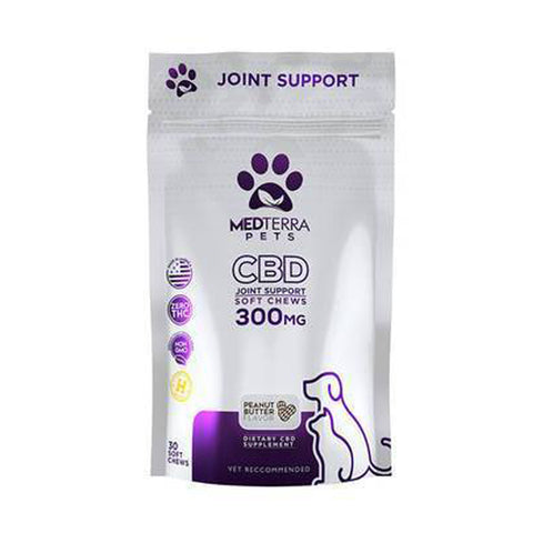 Medterra - CBD Pet Edible - Peanut Butter Joint Support Chews - 300mg