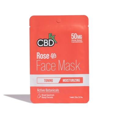 CBDfx - CBD Face Mask - Rose - 50mg