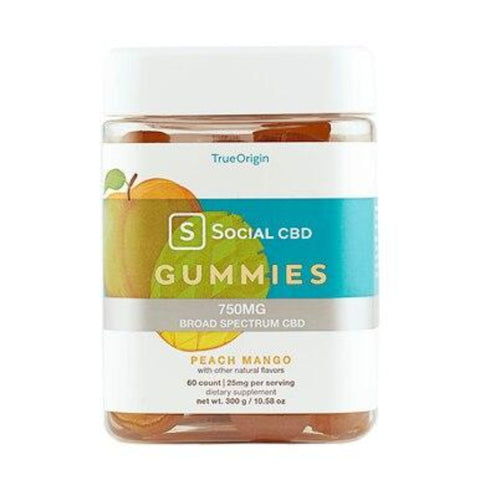 Image of Social CBD - CBD Edible - Broad Spectrum Peach Mango Gummies - 12.5mg