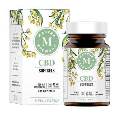 Martha Stewart - CBD Capsules - Unflavored Softgels - 750mg