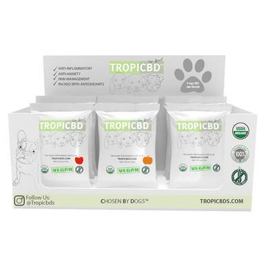 TropiCBD - CBD Pet Edible - Sample Box Dog Treats - CBD Pet Product - 4mg