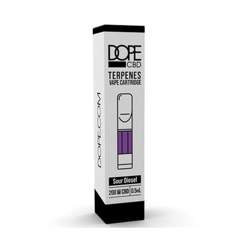 Dope CBD - CBD Cartridge - Sour Diesel With Terpenes - 200mg-400mg