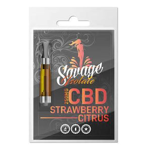 Savage - CBD Vape Cartridge - Strawberry Citrus - 250mg