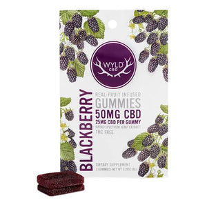 Wyld CBD - CBD Edible - Blackberry Gummies - 25mg