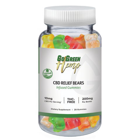GoGreen Hemp CBD Infused Relief Bears 10mg