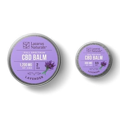 Lazarus Naturals - CBD Topical - Lavender Full Spectrum Balm - 300mg-1200mg