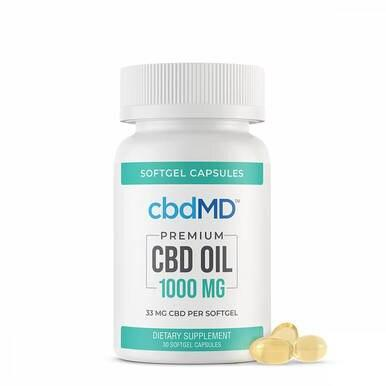 cbdMD - CBD Softgels - Cbd Oil Softgel Capsules - 15mg-50mg