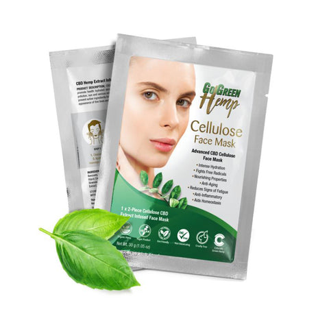 GoGreen Hemp Cellulose CBD Face Mask