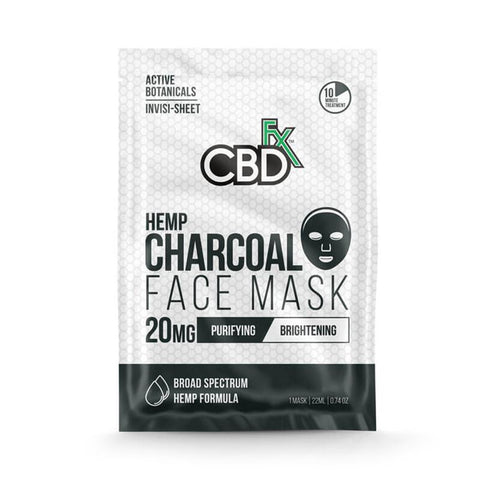 CBDfx - CBD Face Mask - Charcoal - 20mg