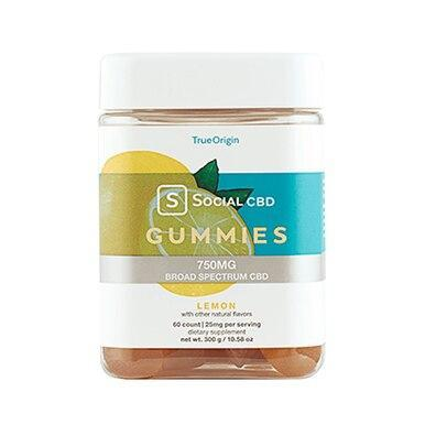 Social CBD - CBD Edible - Broad Spectrum Lemon Gummies - 12.5mg