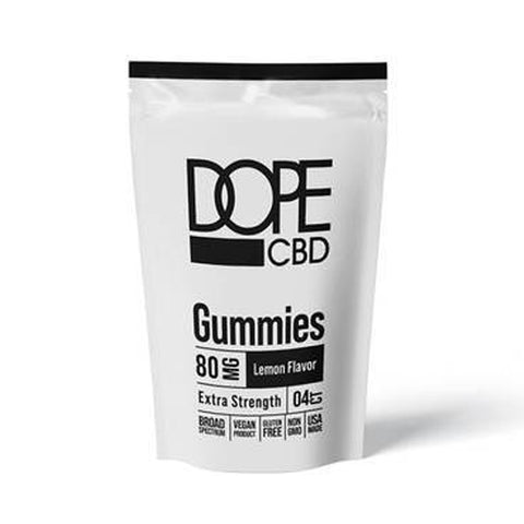 Image of Dope CBD - CBD Edible - Extra Strength Lemon Gummies - 80mg