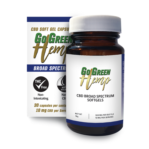 Image of GoGreen Hemp CBD Soft Gel Capsules 10mg (300mg)