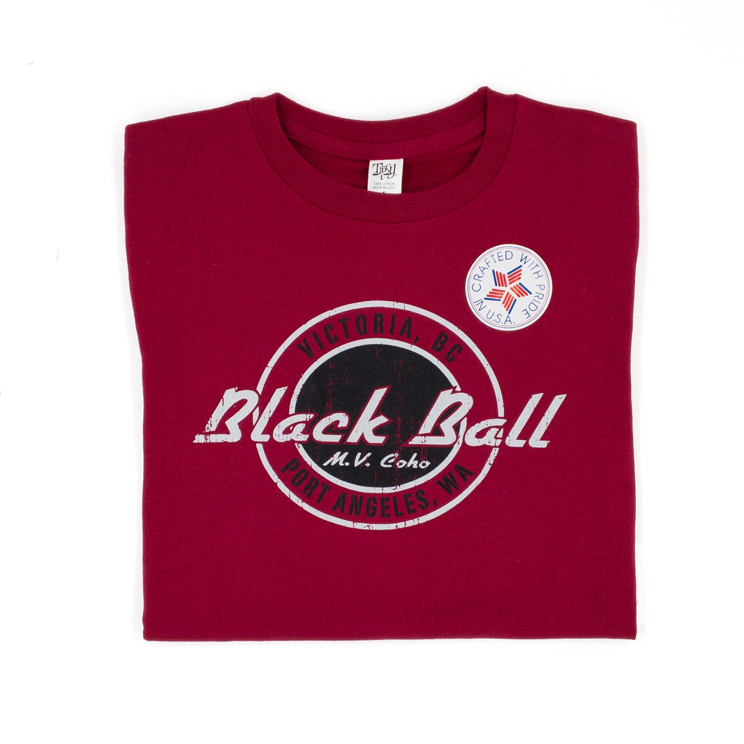 red Black Ball t-shirt