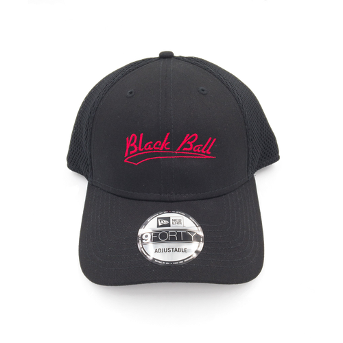 Black Ball black mesh hat