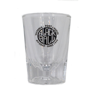 Black Ball shot glass