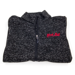 women's black ball sweater folded