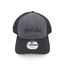 Load image into Gallery viewer, Black Ball swoosh adjustable grey hat