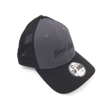 Load image into Gallery viewer, Black Ball swoosh adjustable grey hat side view