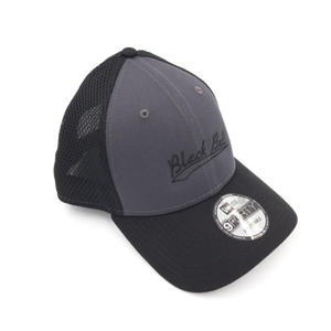Black Ball swoosh adjustable grey hat side view