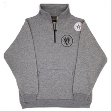 Load image into Gallery viewer, grey MV COHO intertwined quarter zip