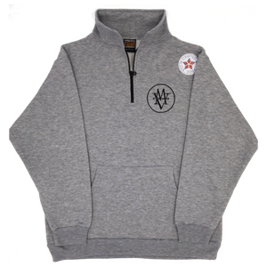grey MV COHO intertwined quarter zip