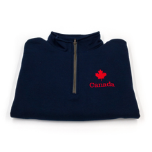 Load image into Gallery viewer, maple leaf quarter zip folded