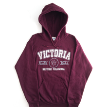 Load image into Gallery viewer, maroon Victoria hoodie