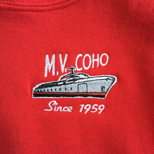 Load image into Gallery viewer, kid's MV COHO red hoodie logo