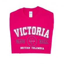 Load image into Gallery viewer, pink women's Victoria t-shirt folded