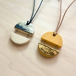 Moonrise/Sunset Ceramic Necklace