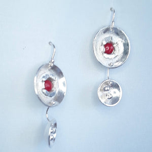 Seeds Are Babies Too Earrings with Red Coral