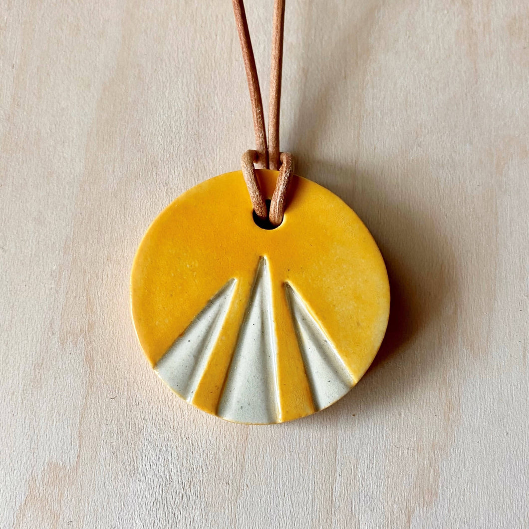 Sunburst Ceramic Necklace