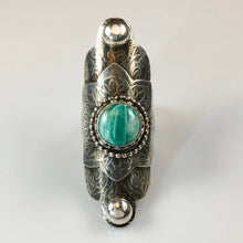 Load image into Gallery viewer, Sterling Silver Boho Styled Ring with Amazonite Stone