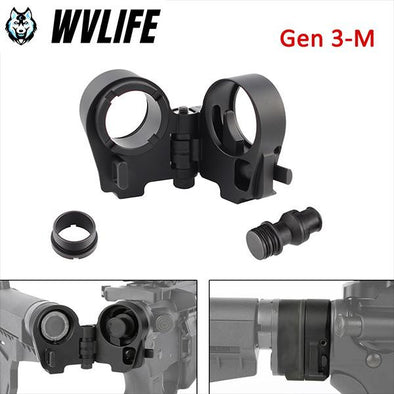 WVLIFE Gen3-M AR Folding Stock Adapter For AR-15/M16 Series/.223/.308/M6 Series/M4 SR25 Series Rifle 5.56 to .308