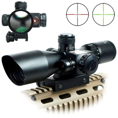 WVLIFE 2.5-10x40e Red & Green Illuminated Scope with 20mm Mount
