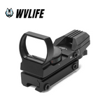WVLIFE 20mm Rail Riflescope Hunting Optics Holographic Red Dot Sight Reflex 4 Reticle Tactical Scope Collimator Sight Hunting Accessories