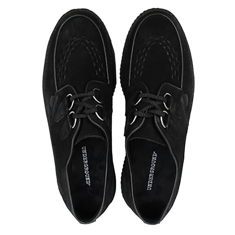 Underground Wulfrun Original Double Sole feature smooth suede uppers, soft breathable textile lining, rubber ribbed outsole unit, twin d-ring eyelet lace up closure, contrasting trims and apron patterns with three rows on interlacing on the vamp.