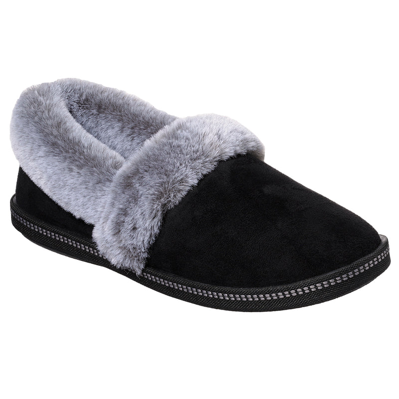 Womens Skechers Cozy Campfire Team Toasty Suede-Textured Winter Warm Faux Fur Slippers