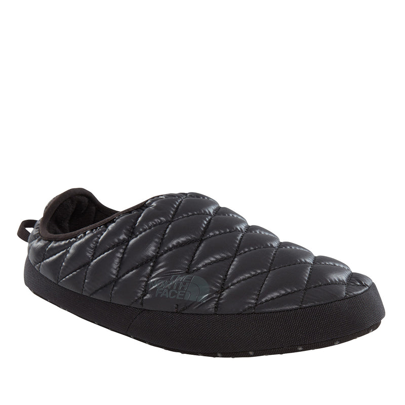 The North Face ThermoBall Tent Mule IV Warm Fleece Winter Slippers - Black/Beluga Grey - 7-8.5