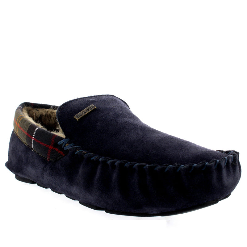 Barbour Monty Suede Navy Moccasin