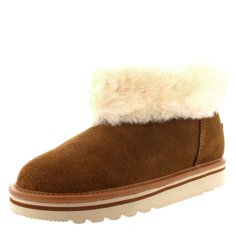 Barbour Ashley Boot Suede Camel Faux