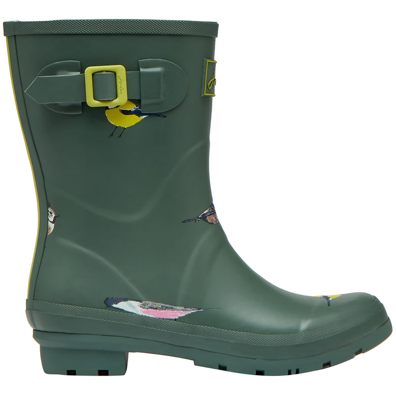 Womens Joules Molly Welly Mid Height Rubber Muck Festival Wellingtons