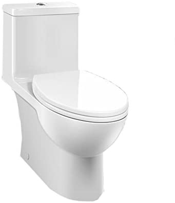 CAROMA - Toilet - 989900W Caravelle Easy Height Elongated with Soft Close Detachable Seat, White