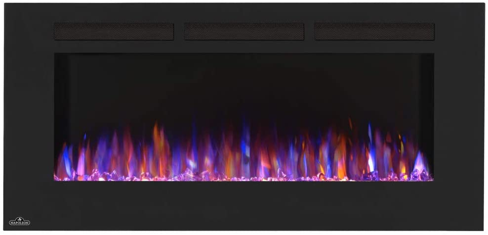 FIREPLACE- CONTINENTAL - CEFL50FH - Hanging Electric Fireplace, 5000 BTUH Heating, 120 V, 1500 watt